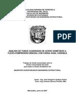 Analisis de Tubos Cuadrados Estructurales