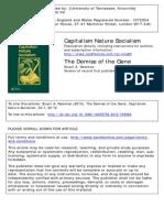 Capitalism Nature Socialism Volume 24 Issue 1 2013 [Doi 10.1080_10455752.2012.759366] Newman, Stuart a. -- The Demise of the Gene