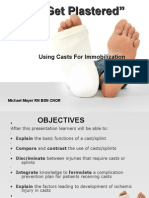 Using Casts for Immobilization