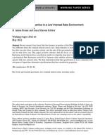 2011 10 - New Keynesian Dynamics in a Low Interest Rate Environment - Braun, Mareen