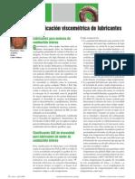 Clasificación viscométrica de lubricantes