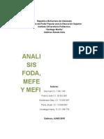 Gerencia Analisis FODA MEFI Y MEFE.docx