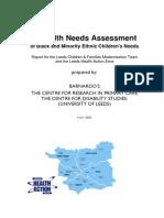 18. Health Needs Assessment of Bme Children s Needs (1)