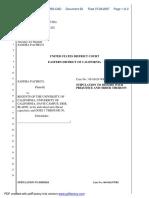 Pacheco v. Regents of the University of CA - Document No. 28