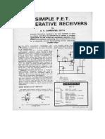 Simple FET Regenerative Receivers