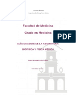 GUIA DOCENTE Biofisica y Fisica Medica 1 CURSO 2012 13