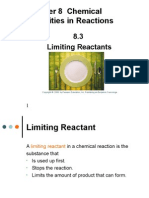 8 3 limiting reactants