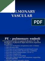 Pulmonary Vascular Disorders