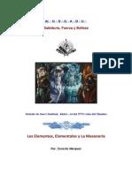 Los Elementos, Elementales y La Masoneria