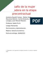 El Desafío de La Mujer Trabajadora en La Etapa Precontractual