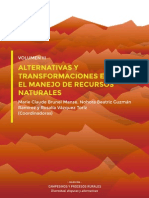 VOLUMEN III, ALTERNATIVAS Y TRANSFORMACIONES EN EL MANEJO DE RECURSOS NATURALES