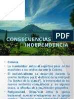 CONSECUANCIAS DE LA INDEPENDENCIA AMRECICANA