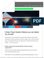 5 Solar Panel Quality Defects You Can Detect by Yourself