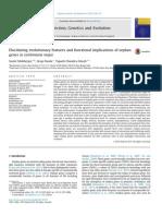 Orphan genes in Leishmania major