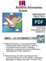 Human Resource Information System ;HRM