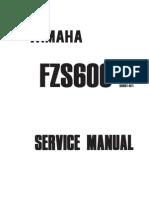 manual de servicio  - Yamaha Fazer FZS600 (1998)