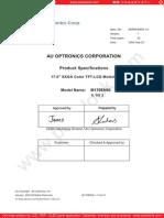 Panel AU Optronics M170EN05 V3 0 [DS]