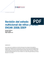 Informe Técnico Revisión de Estado Nutricional de Niños y Niñas ENSMI 2008