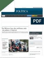 En México Millones Más de Pobres