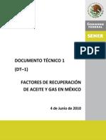 Factores de Recuperación de Aceite y Gas en México
