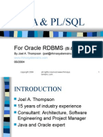 Java and Plsql-1hr