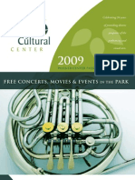 Valley Cultural Center Concert in the Park Program 2009
