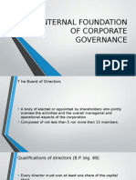 Internal Foundations of Corporate Governance