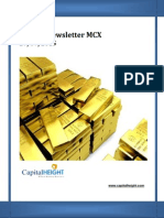 Weekly Mcx Newsletter for Indian Commodity Market by CapitalHeight