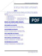 3.Rules of Debit and Credit(Financial Accounting)