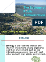 Report Ecology of Public Administration