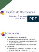Programacion de Operaciones