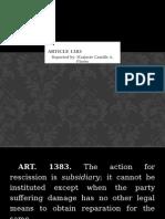 Report Article 1383 Oblicon