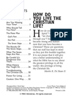 How Do You Live the Christian Life