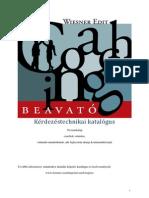 Wiesner Edit - Kérdezéstechnikai Katalógus - Lemma Coaching