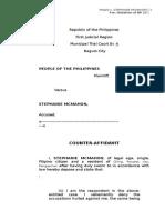 People v. Mcmahon-Counter Affidavit
