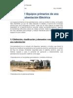 Unidad 1 Equipos Primarios de Una Subestación Eléctrica