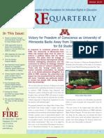 The FIRE Quarterly