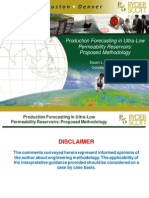 Production Forecasting in Ultra Low Permeability Reservoirs