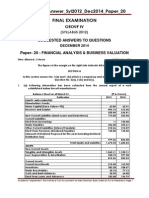 Suggested Answer - P.20 Fin. Analysis & Business Valuation