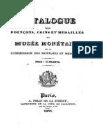Catalogue des poinçons, coins et médailles du Musée Monétaire de la Commission des monnaies et médailles