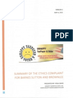Commissioner Sharon Barnes Sutton and RightThink Multiple Payments (Part 1) - Summary of the Ethics Complaint