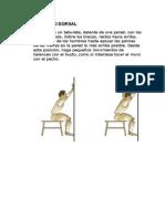 Estiramientos cervico-dorsales