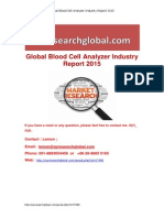 Global Blood Cell Analyzer Industry Market Research Report 2015