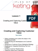 Lesson 1-Creating and Capturing Customer Value
