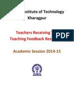 IITKGP Top Teaching Feedback 2014-15 v1