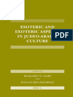 Esoteric and Exoteric Aspects in Judeo-Arabic Culture