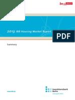IBB Housing Market Report 2013 Summary