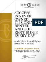 Rory Vaden TAKE the STAIRS Minibuk Quotes