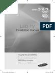 Samsung LED TVs installation manual