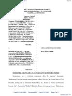 Word Music, LLC et al v. Priddis Music, Inc. et al - Document No. 60